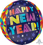 GEOMETIC NEW YEAR (16IN) QTY 5