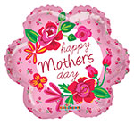 HAPPY MOTHER'S DAY PINK ROSES  (18IN) QTY 5