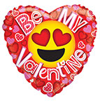 "HAPPY VALENTINE'S DAY BE MY SMILEY (18"") QTY 5"