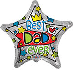 """BEST DAD EVER (18"""") QTY 5"""
