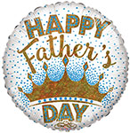 """HAPPY FATHER'S DAY KING (18"""") QTY 5"""