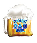 """COOLEST DAD BEER (18"""") QTY 5"""