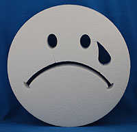 SMILE FACE ONE TEAR (12in x 1½ thick) QTY2