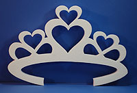 HEART TIARA (18in x 1½ thick) QTY2