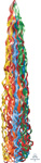 TWIRLZ BALLOON TAIL PRIMARY (6IN X 34IN) QTY 5