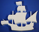PIRATE SHIP (18in x 1½ thick) QTY2