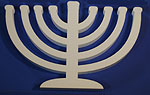 OPEN ARM MENORAH (12in x 1½ thick) QTY2