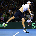 2015 Davis Cup: U.S. vs. Great Britain Action