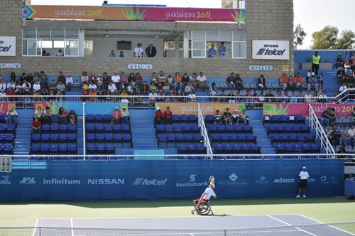 Fans at the Telcel tennis center watch USA kick off the 2011 Parapan Am Games