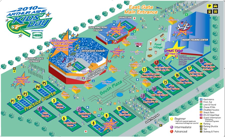 First Timers Experience At The US Open Michael Welburn - Map of us open