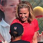 Shue Plays 10 and Under Tennis at Indian Wells