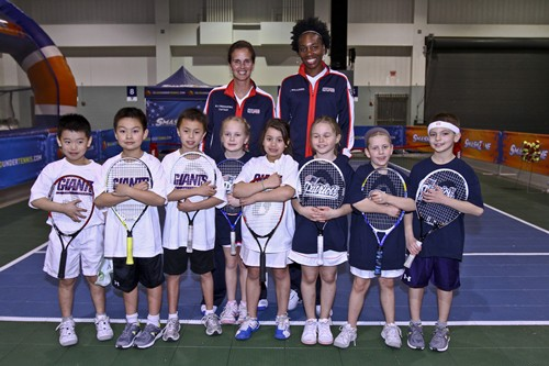 2012 Fed Cup USA vs. BelarusKids participating in the 10 and under tennis tournament at the DCU Center