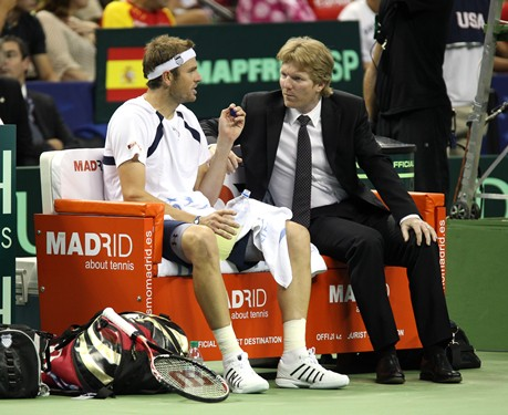 Mardy Fish  and Jim Courier