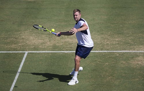 SINGLES: JOHN ISNER OF THE USA AGAINST SAM GROTH OF AUSTRALIA AND JACK SOCK OF THE USA AGAINST BERNARD TOMIC OF AUSTRALIA2016 DAVIS CUP  WORLD GROUP FIRST ROUND - AUSTRALIA V USA