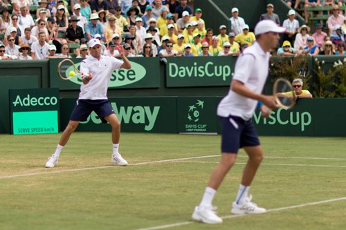 DOUBLES: MIKE BRYAN AND BOB BRYAN OF THE USA AGAINST LLEYTON HEWITT AND JOHN PEERS OF AUSTRALIA2016 DAVIS CUP  WORLD GROUP FIRST ROUND - AUSTRALIA V USA