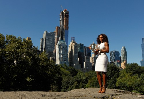 Serena Williams New York City Trophy Tour