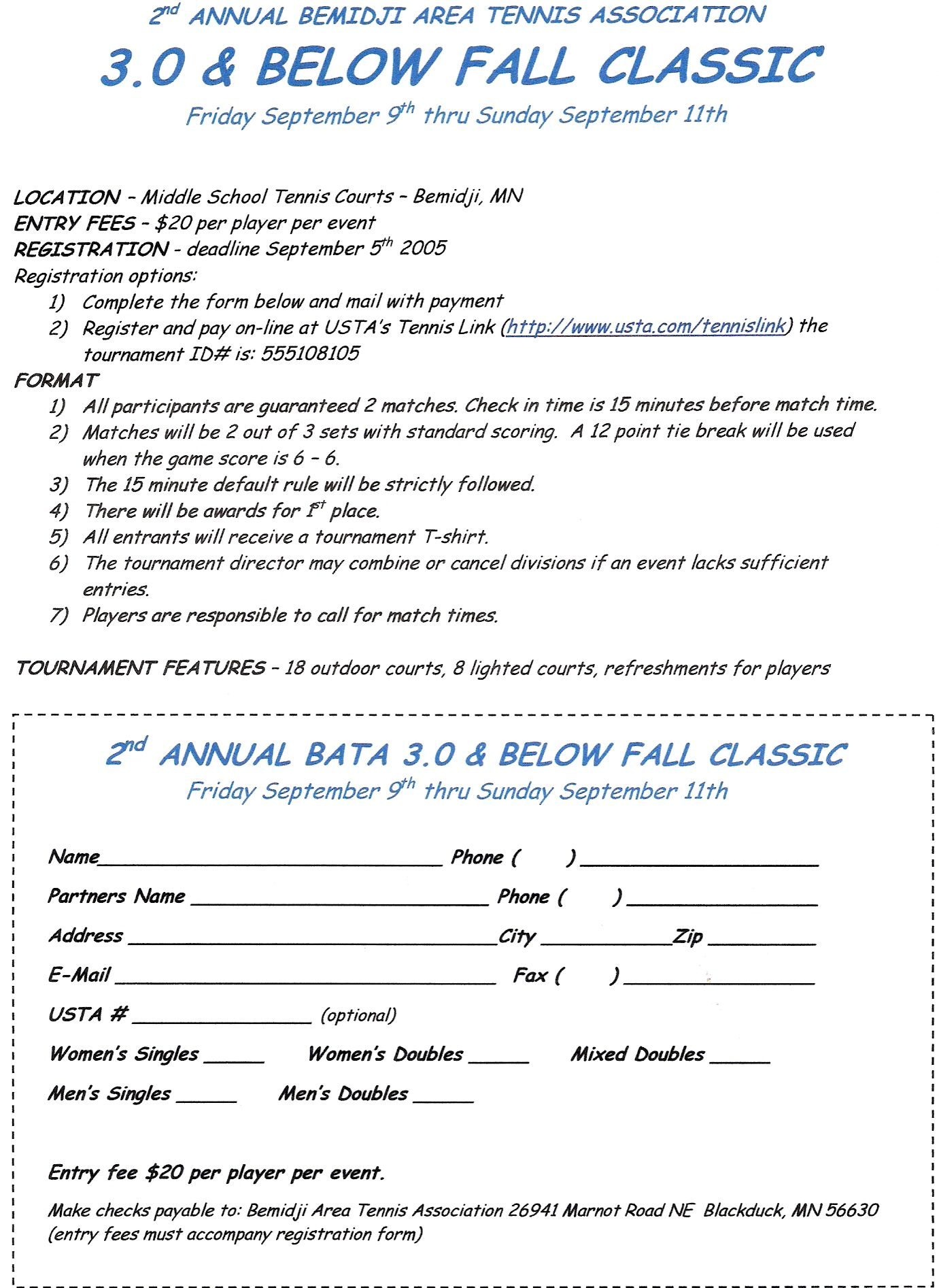 BATA  2005  3.0 & Below Fall Classic