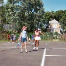 Tennis tips during USA Tennis program.