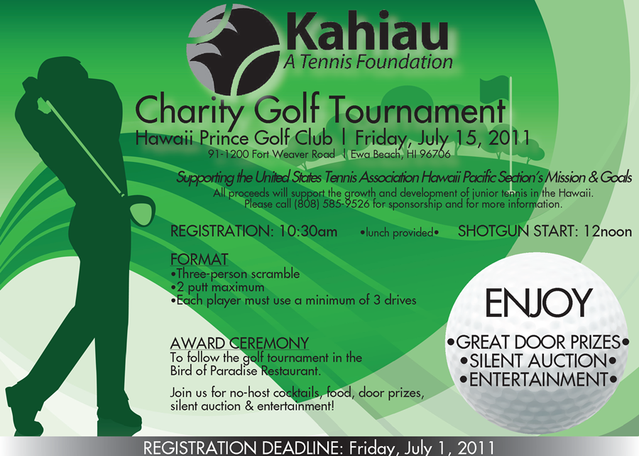web FLYER - 2011 Kahiau Golf Tounament