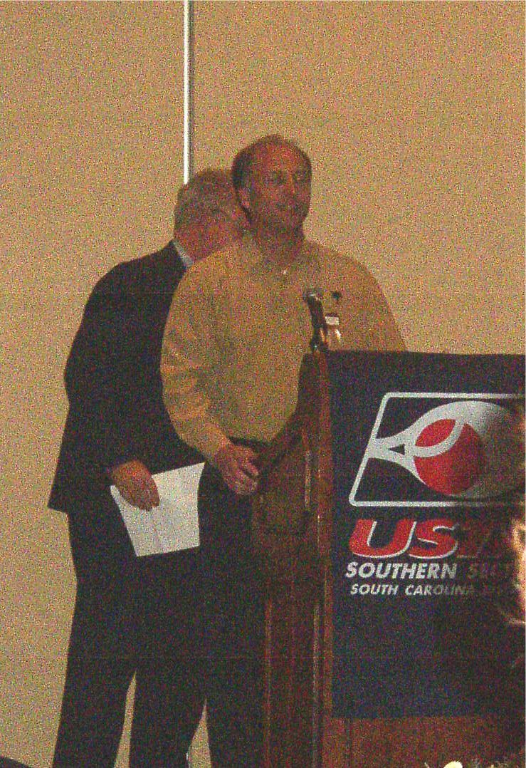 Jack Aldrich accepting the CTA of the year award for 2003