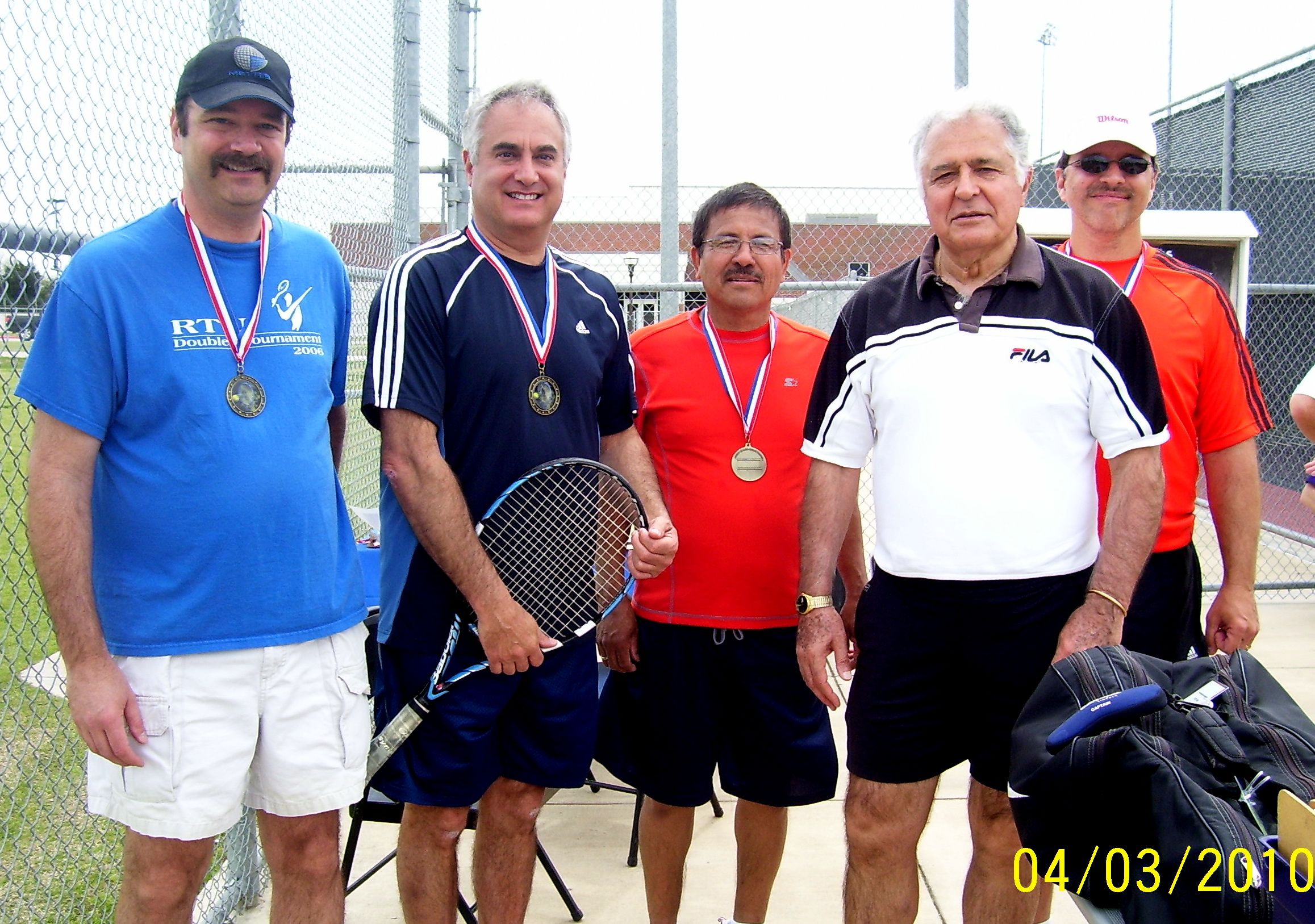 Easter Tournament 2010 - Men's First and Second Place Winners