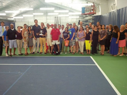 USTA Metro Captains and Battle of the Boroughs Champions Celebrate a night at the New York Sportimes WTT match.