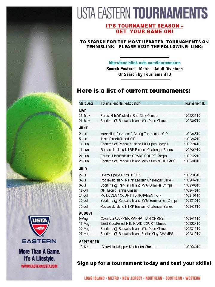 Upcoming Adult Tournaments