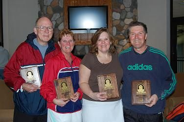 2009 The Bob 6.0 Mixed On left Champions Mike & Mary Ann Rublein on right Finalists Nadine Donajakowski & Peter Schmidt