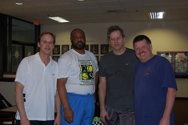 2009 The Bob 7.5 Men's Consolation on left finalists Bryan Olshove & Darrell Dixon on right Winners Leland Payne & Keith Bushy