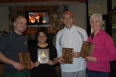 2009 The Bob 7.5 Mixed Champions on left Sam Nice & Diane Gillespie on right Finalists Rod Gendron & Marilyn Schuler