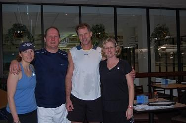 2009 The Bob 7.5 Mixed Consolation on left Finalists Jennifer Moore & Mark Fischer on right Winners Tom Danz & Jill Fenton Jones
