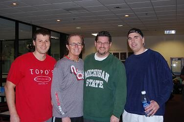 2009 The Bob 8.5 Men's Consolation on left Winners Kirk Gossett & Harold Calton on right finalists Joe Havican & Paul Wieland
