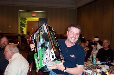 Jim Massaroni, proud winner of the bench grinder