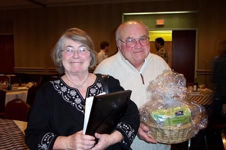 Margaret and Dick Ruemenapp had a lucky night with purchased raffle tickets