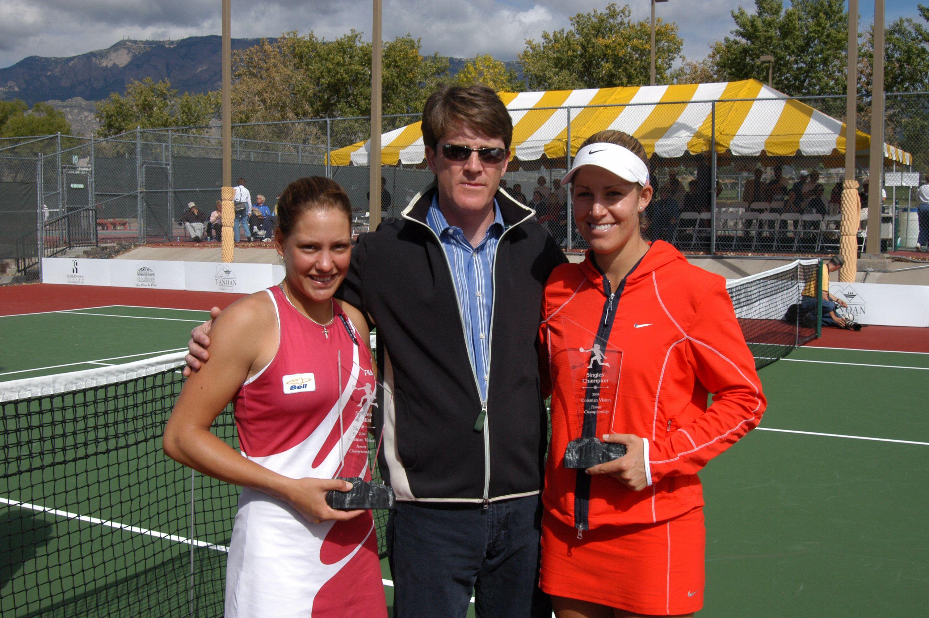 Stephanie Dubois (finalist), Dr. Stephen Coleman (sponsor), and Marissa Irvin (winner)