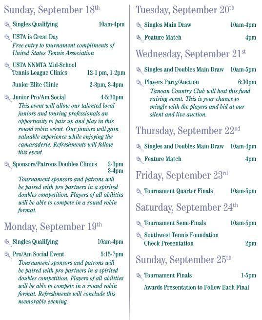 Coleman Vision Schedule 2005