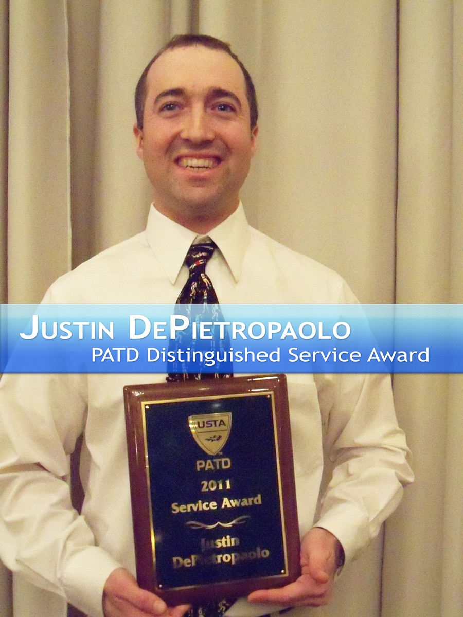 Justin DePietropaolo PATD Distinguished Serve Award