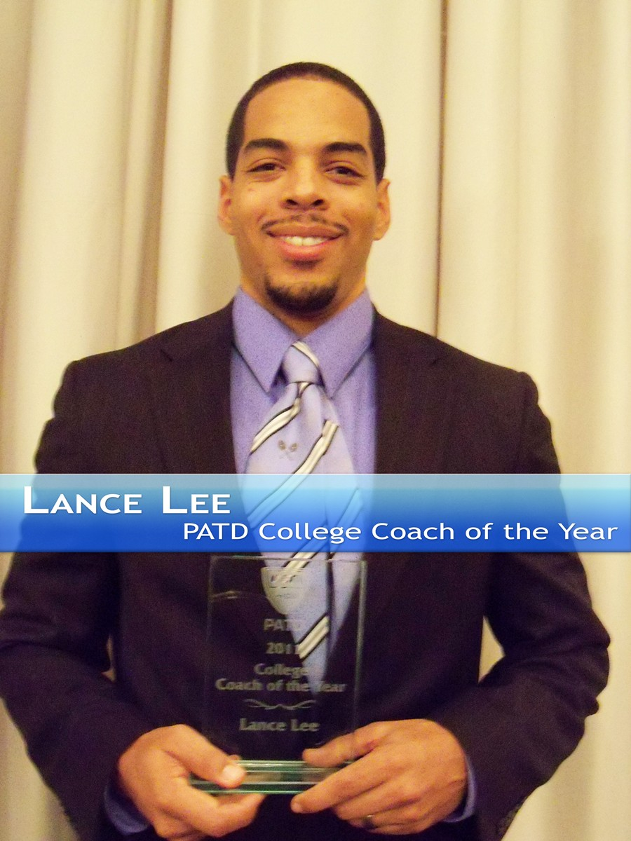 Lance Lee PATD College Coach of the Year
