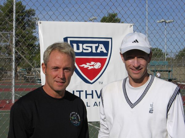 Men's 40 Singles (1) Mike James d. Wayne Foraker 6-1; 6-2