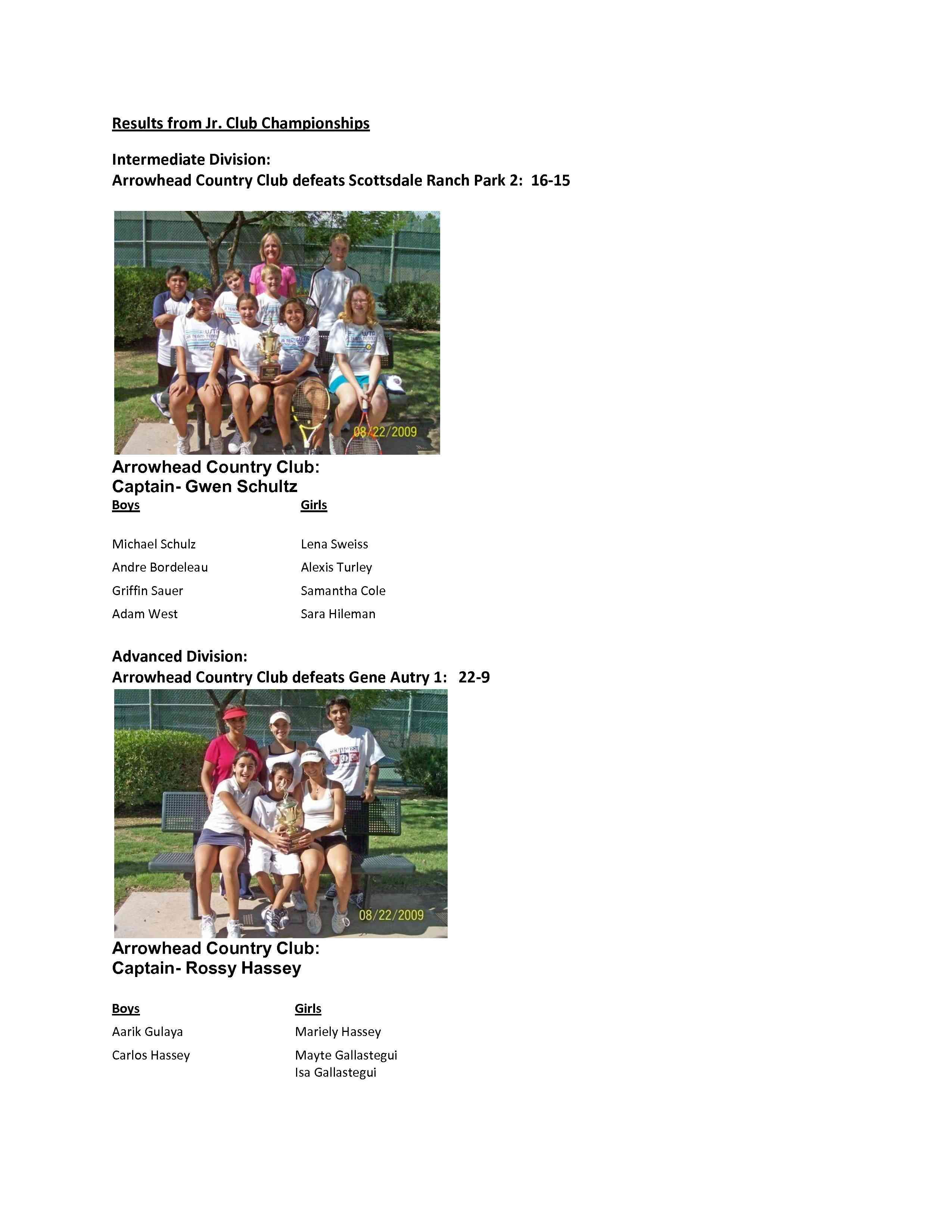 Jr. Club Championships Page 2