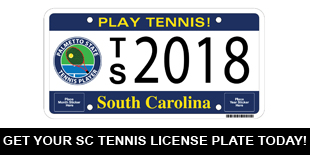 SCTPF Tennis License Plate