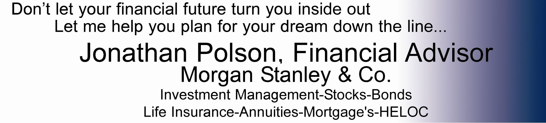 Polson Morgan Stanley Ad