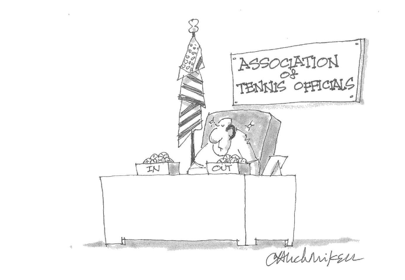 Tennis Officials Cartoon