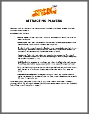 Attracting players