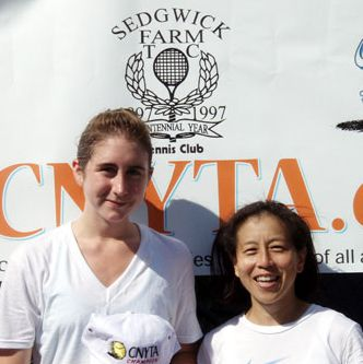Women's 4.5 division finalists in the CNYTA Adult Tournament