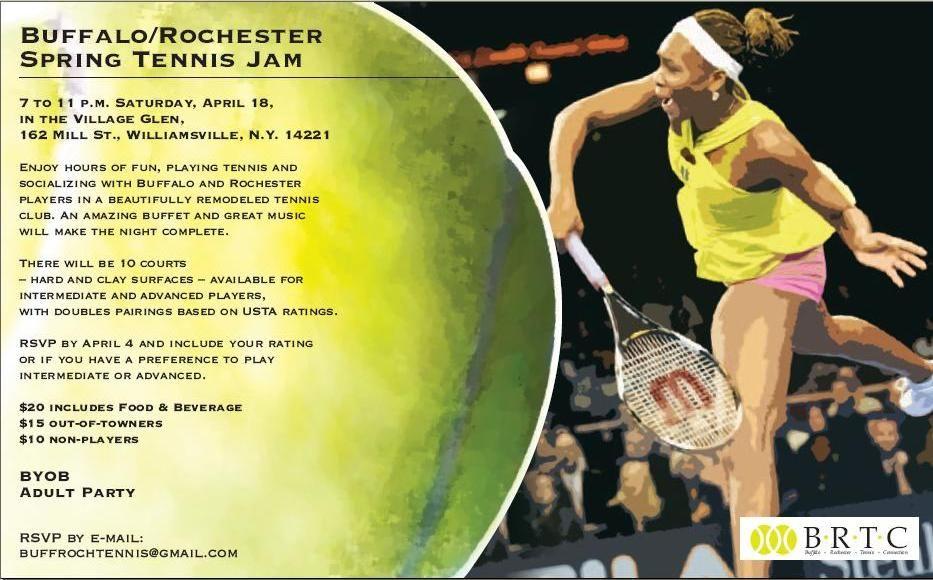Buffalo/Rochester Spring Tennis Jam