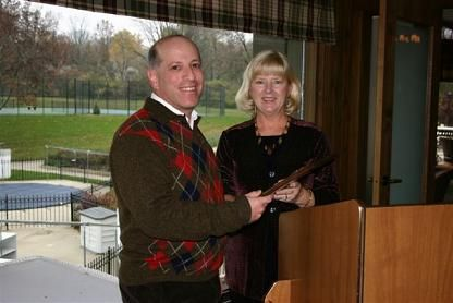 Larry Tabak was honored with the 2007 Rollie Mueller President's Award, presented by Judy Veloff, District League Coordinator for USTA Leauge Tennis