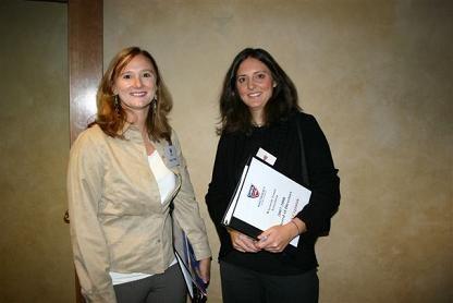 Nikki Timm with Sarah Cyganiak