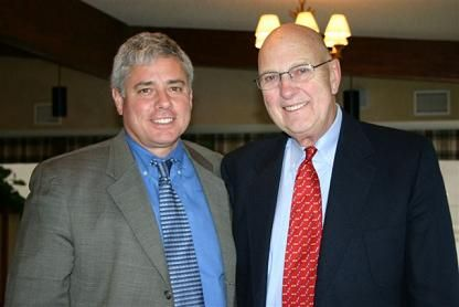 Retiring Wisconsin Executive Director, John Jansky with USTA Midwest Section Executive Director, Mark Saunders