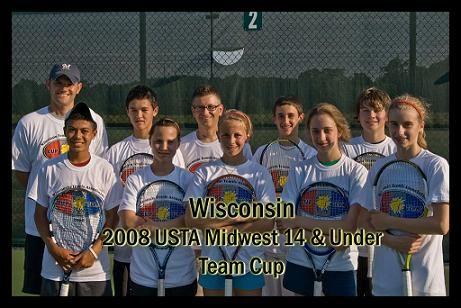 2008 USTA Midwest 14 & Under team